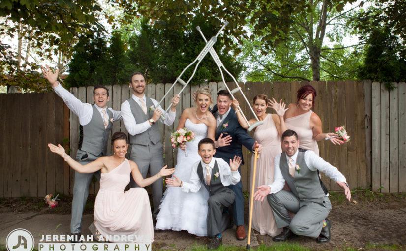 Fun Coeur d'Alene Wedding Chapel Spring Wedding